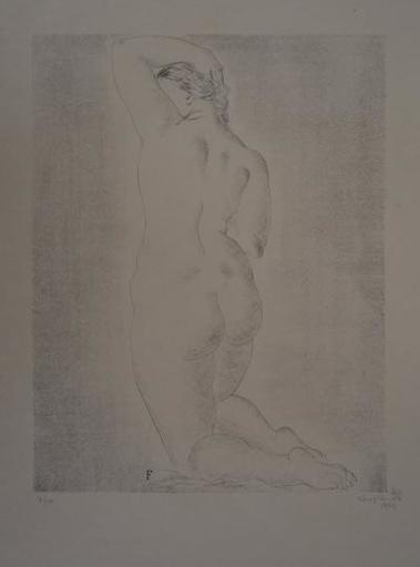Tsuguharu FOUJITA - Stampa Multiplo - Nude Blond woman from behind
