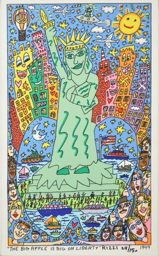 James RIZZI - Print-Multiple - The Big Apple is Big on Liberty