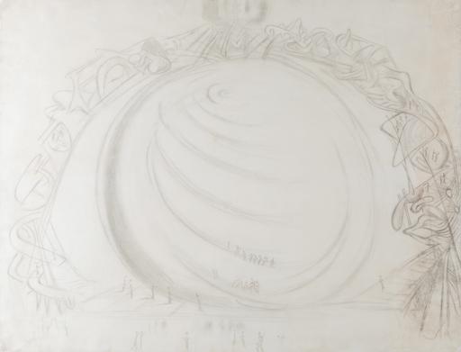 Salvador DALI - Zeichnung Aquarell - Figures Ascending a Spiral