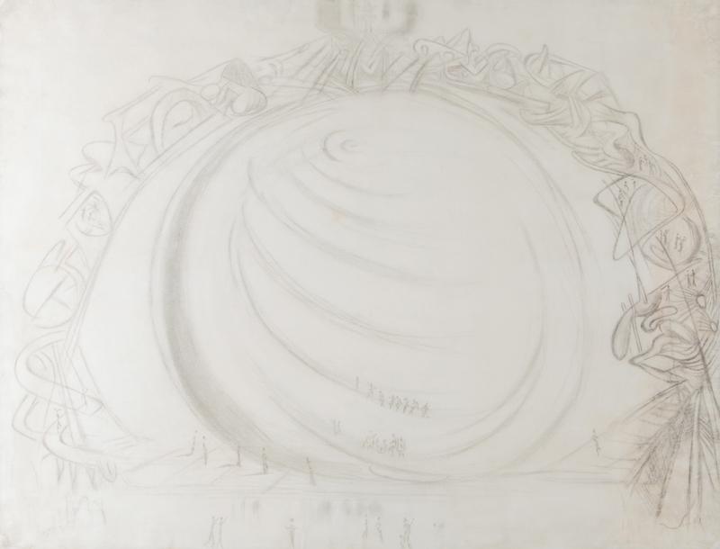 Salvador DALI - Dessin-Aquarelle - Figures Ascending a Spiral