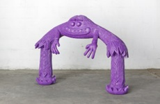 Cameron PLATTER - Escultura - Purple Monster