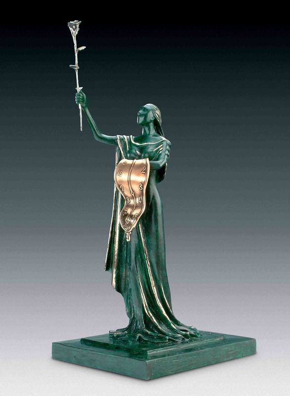 Salvador DALI - Sculpture-Volume - Woman of Time, Femme du temps