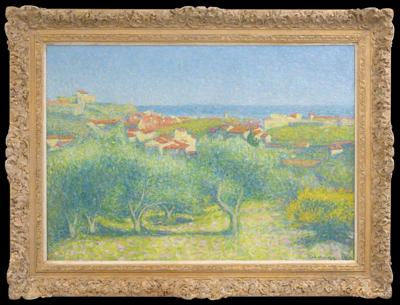 """Achille LAUGÉ - Peinture -  """"Vue de Collioure"""