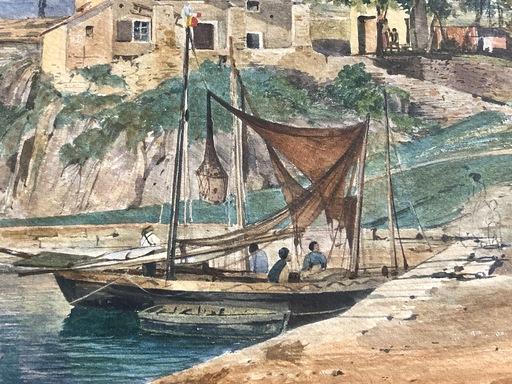 Jacob ALT - Dibujo Acuarela - Meta di Sorrento bei Neapel