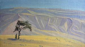 Valeriy NESTEROV - Painting - Tajikistan landscape
