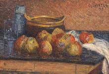 Gustave LOISEAU - Painting - Nature morte aux pommes