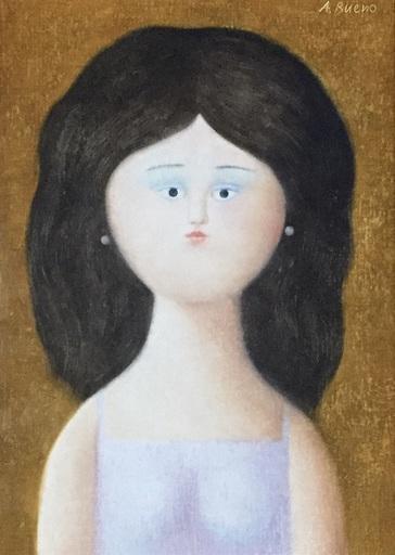 Antonio BUENO - Pittura - Fanciulla bruna