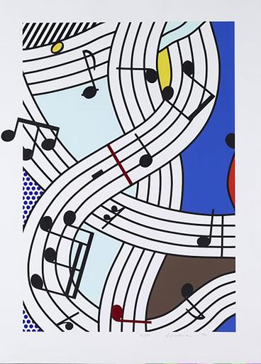 Roy LICHTENSTEIN - Druckgrafik-Multiple - Composition I