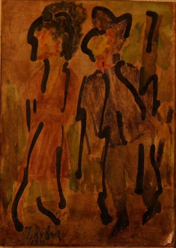Issachar Ber RYBACK - Pittura - The two figures