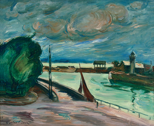 Emile Othon FRIESZ - Gemälde - Honfleur, 1935-37