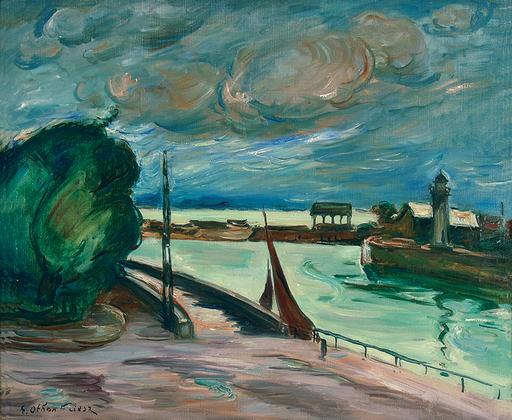 Emile Othon FRIESZ - 绘画 - Honfleur, 1935-37