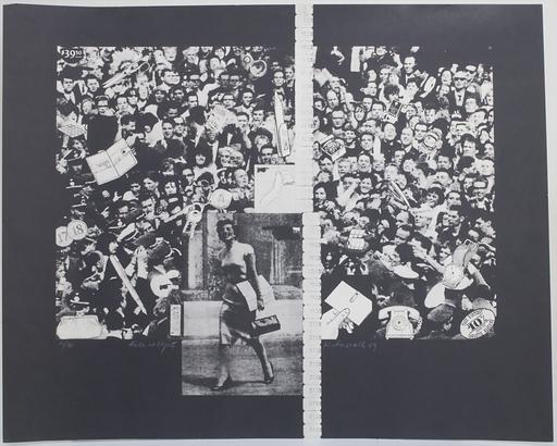 Joan RABASCALL - Print-Multiple - Foule et Objects