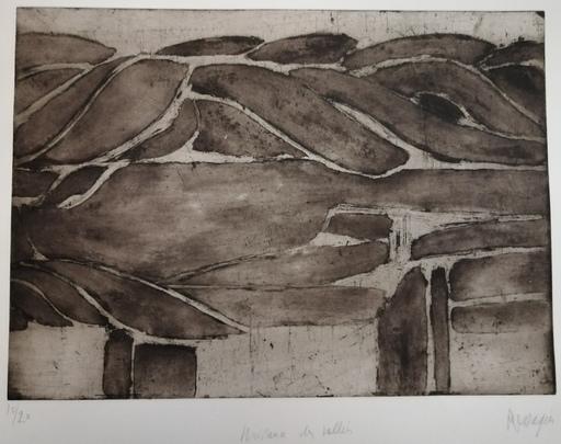 Jean MESSAGIER - 版画 - Naissance des Vallées