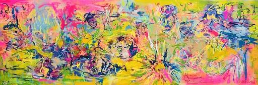 Nicole LEIDENFROST - Gemälde - Blumen und Gesichter
