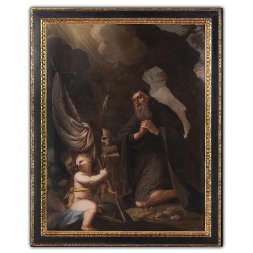 Nicola MALINCONICO - Pintura - San Guglielmo d'Aquitania