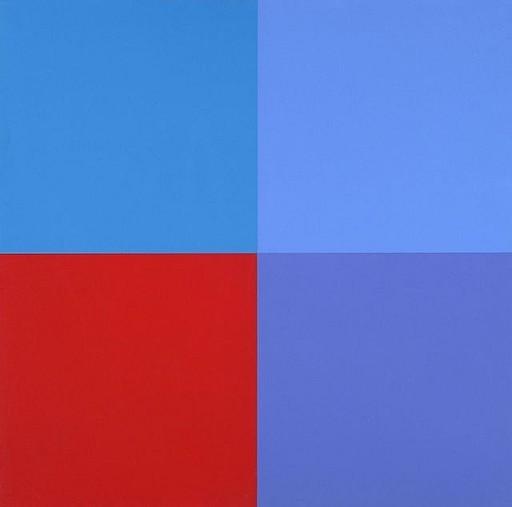 Aurélie NEMOURS - Stampa Multiplo - Un rouge trois bleus