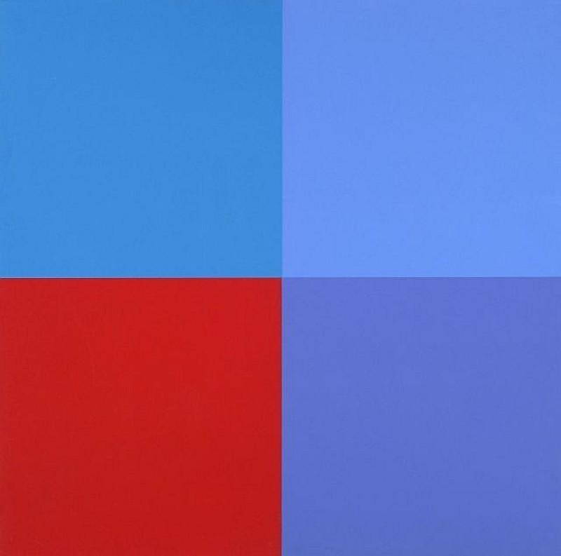 Aurélie NEMOURS - Grabado - Un rouge trois bleus