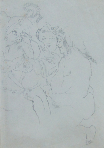 Jules PASCIN - Disegno Acquarello - Mille et une Nuit