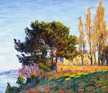 弗朗西斯·毕卡比亚 - 绘画 - Effet de soleil couchant sur l'étang de Berre - Martigues