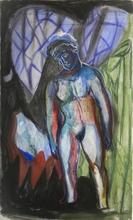 Sandro CHIA - Drawing-Watercolor - Ipotetico verticale V