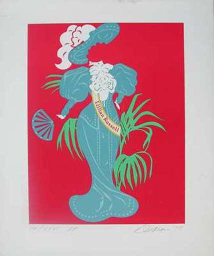 Robert INDIANA - Grabado - Lillian Russell