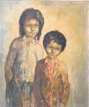 Fanita LANIER - Pintura - BROTHER AND SISTER