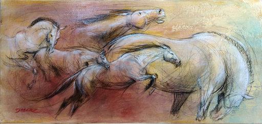 Pascal DABÈRE - Gemälde - Surgis du Fond des Temps