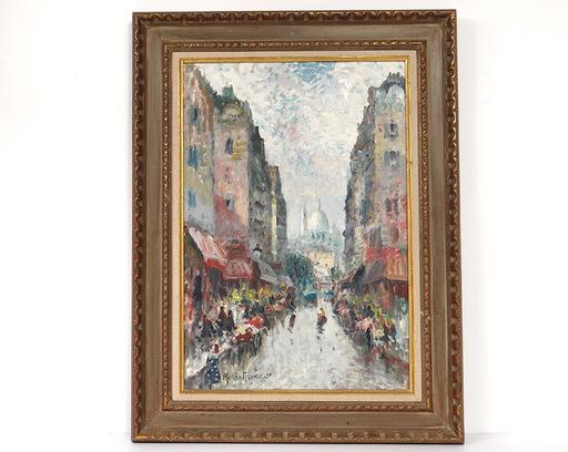Merio AMEGLIO - Painting - Vue de Montmartre avec le Sacré-Coeur
