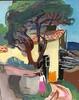 Erich HARTMANN - Peinture - Frau vor Haus im Süden.