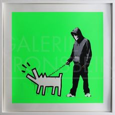 BANKSY - Estampe-Multiple - Choose Your Weapon (Fluoro Green) signed
