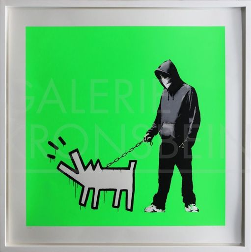 BANKSY - Stampa Multiplo - Choose Your Weapon (Fluoro Green) signed