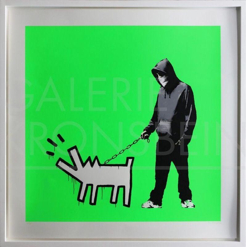 BANKSY - Grabado - Choose Your Weapon (Fluoro Green) signed