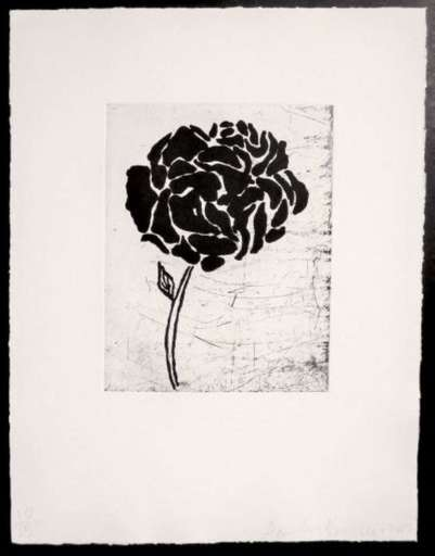 Donald BAECHLER - Print-Multiple - Five flowers (IV)