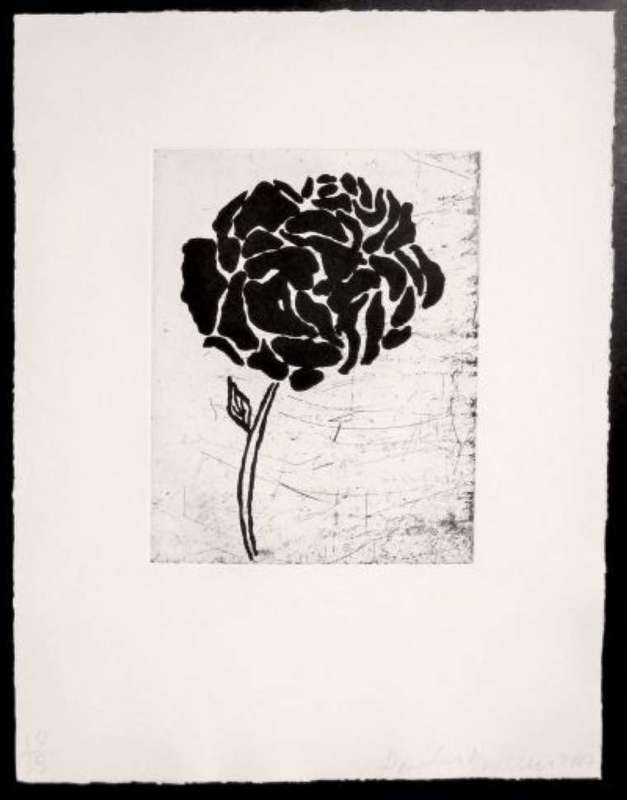 Donald BAECHLER - Print-Multiple - Five flowers (IV)