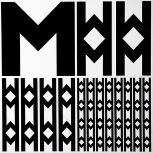 Véra MOLNAR - Gemälde - Structure à partir de la lettre M
