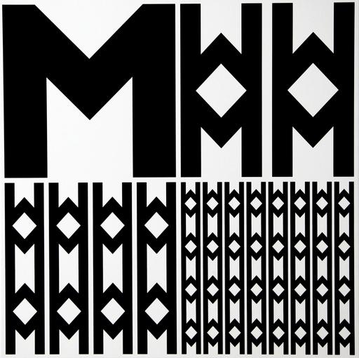 Véra MOLNAR - Pittura - Structure à partir de la lettre M