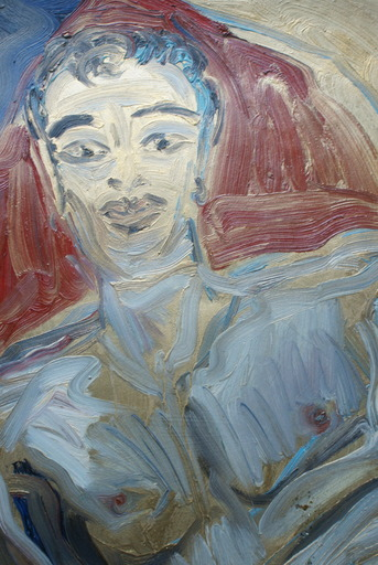 Hunt SLONEM - Painting - Andy XTC