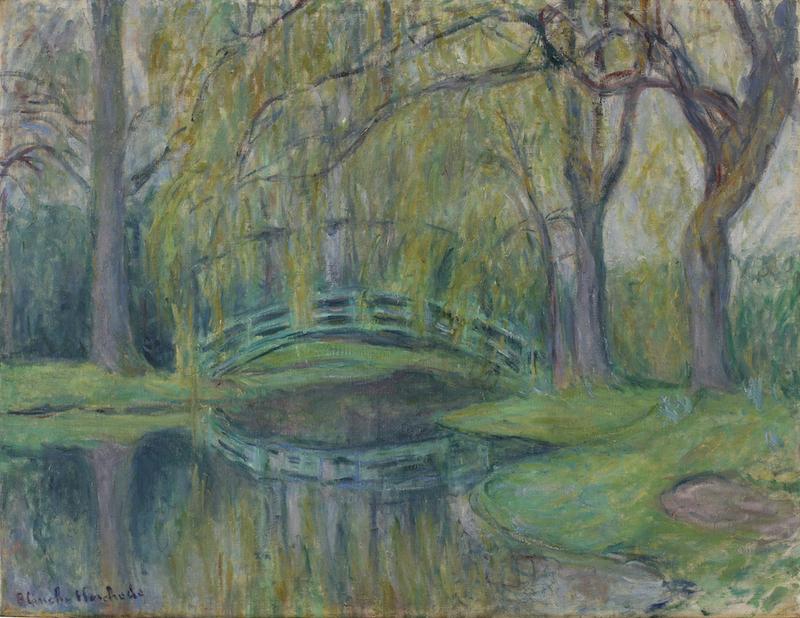 Blanche HOSCHÉDÉ-MONET - Painting - Le pont japonais du bassin aux Nymphéas, Giverny