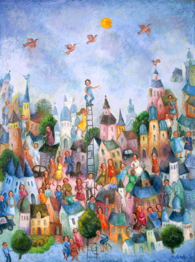 Françoise DEBERDT - Gemälde - L'artiste ravi