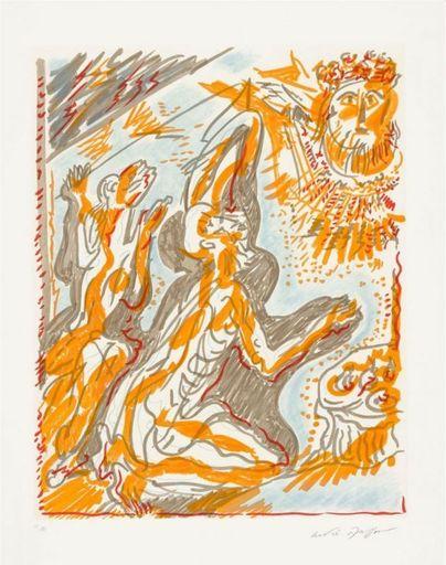 """安德烈•马松 - 版画 - Philémon et Baucis des """"Amants Célèbres"""""""