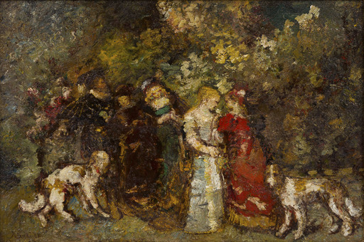 Adolphe MONTICELLI - Peinture - La Lettre d'Amour / The Love Letter