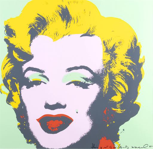 Andy WARHOL - Stampa Multiplo - Marilyn 'This is not by me'