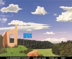 Boris KHELSTOVSKY - Painting - La bannière d'azur