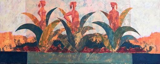Julio SANJURJO ALER - Gemälde - LAS TRES GRACIAS