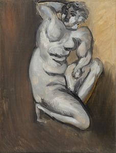 Henri MATISSE - Painting - Nu agenouillé