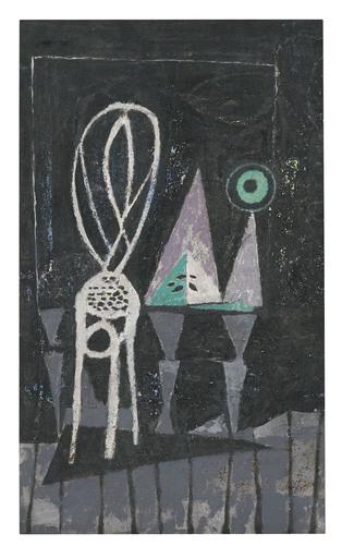 Marc MENDELSON - Painting - Atelier avec chaise