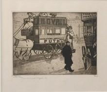 Jean Émile LABOUREUR - Print-Multiple - Les Derniers Bus à Londres