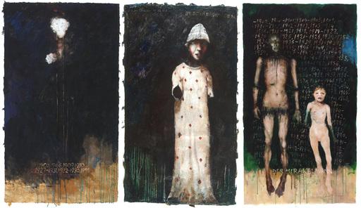 Anton CHRISTIAN - Painting - Beschädigungen (TRYPTICHON)