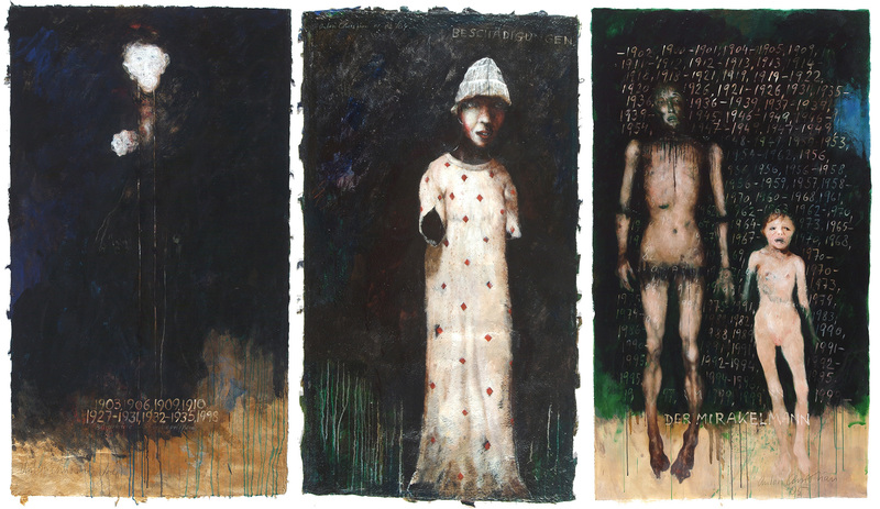 Anton CHRISTIAN - 绘画 - Beschädigungen (TRYPTICHON)