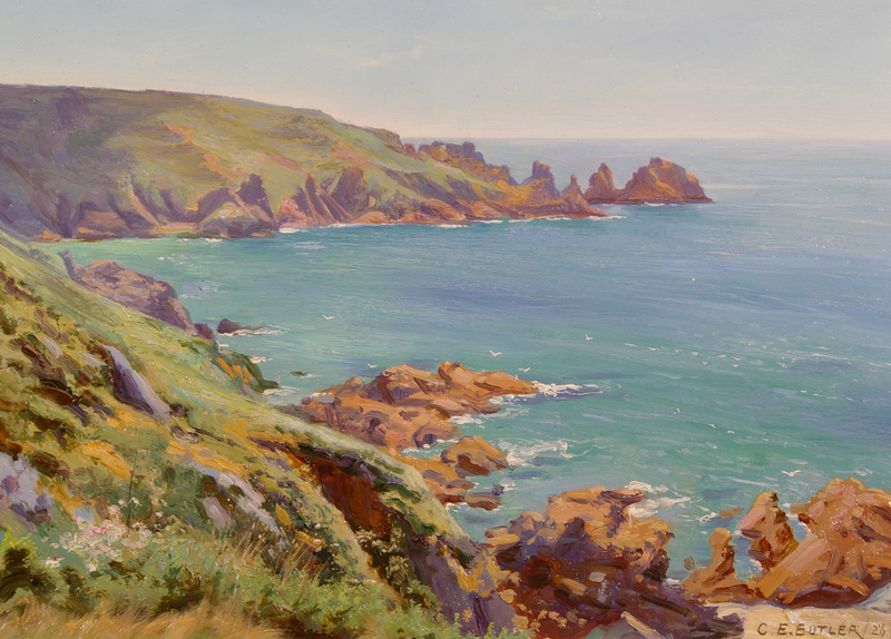 Charles Ernest BUTLER - Painting - The Cornish Coast